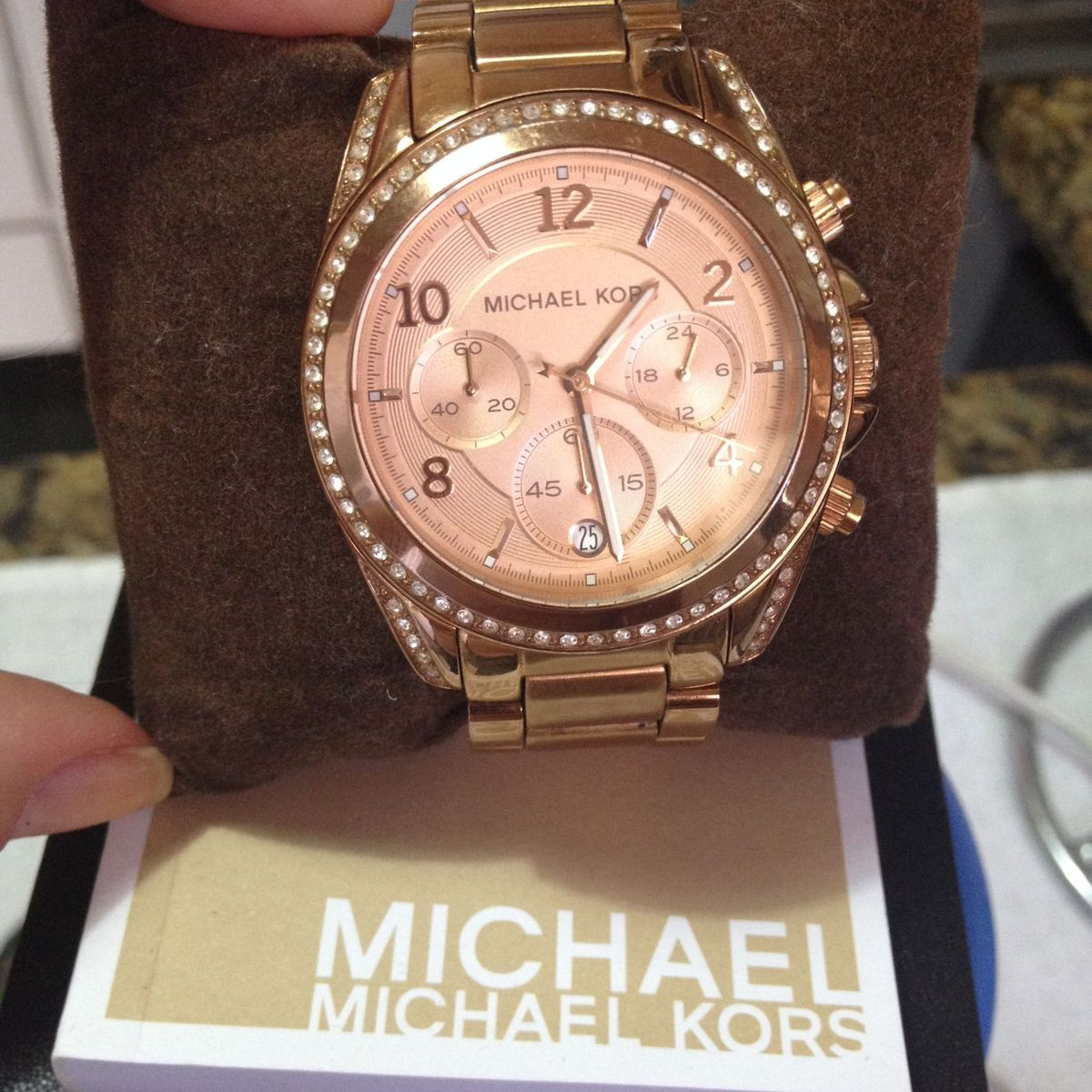 43aca7d26d0e4 1 Relógio Michael Kors Rosê Mk 5263   Relógio Feminino Michael Kors ...