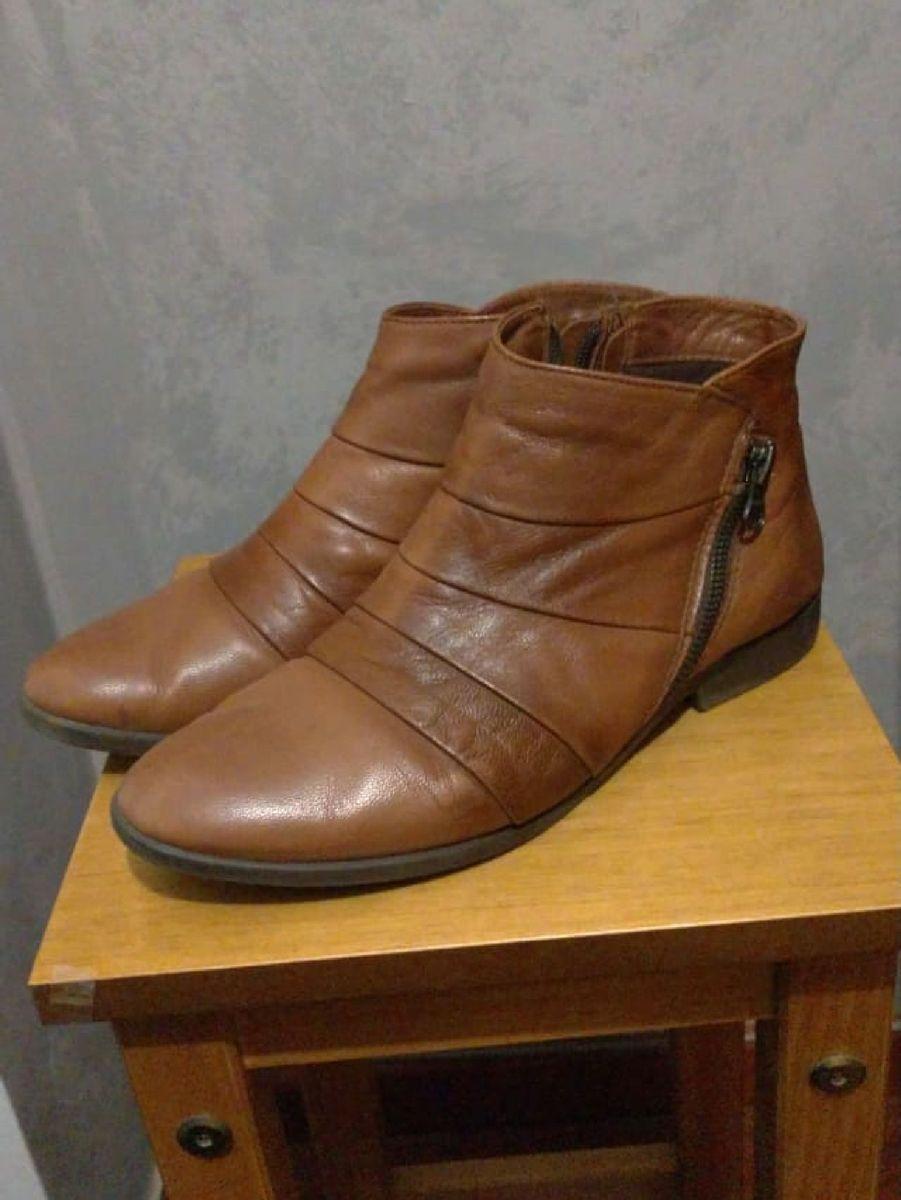 36 bota couro legítimo via curtume - botas via-curtume