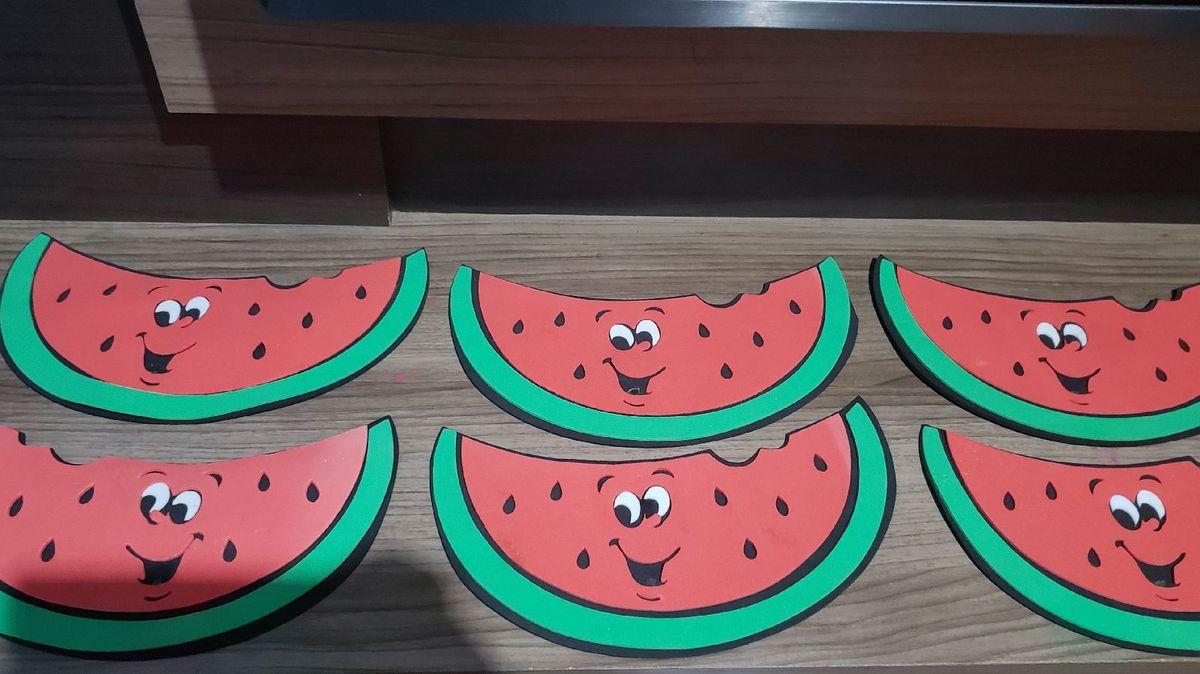 6 melancias eva grande festa magali tropical - outros magali