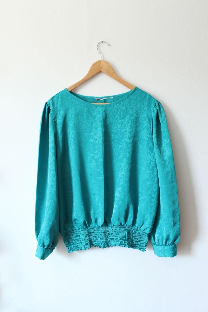 80´s turquesa - blusas sem marca