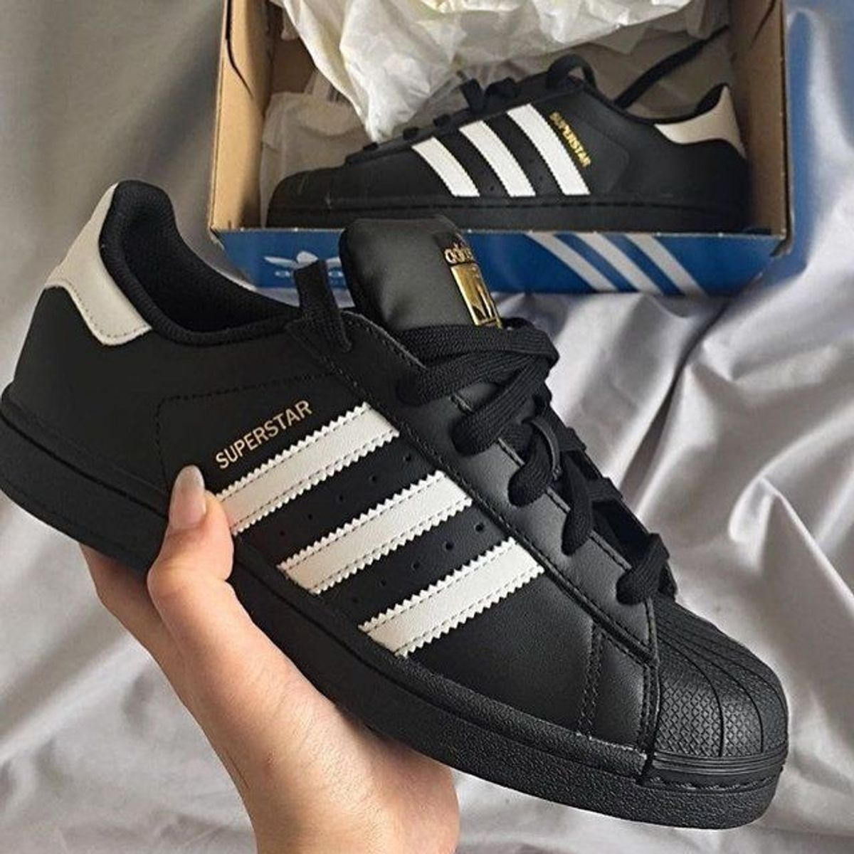separation shoes 1991b 221dc Adidas Superstar - Preto Branco   Tênis Masculino Adidas Nunca Usado  31512998   enjoei