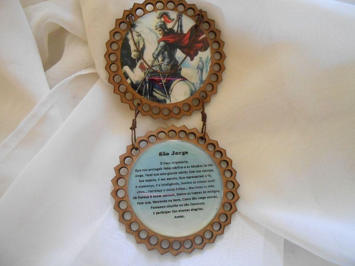 5dcdf1bd64 adorno de porta ou berço de são jorge. lindo - decoração mariah-joias