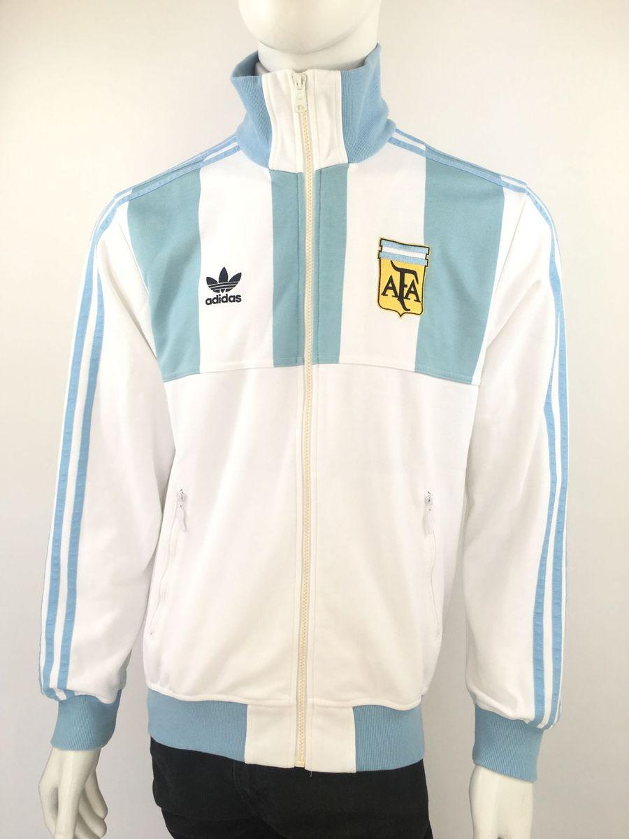 agasalho retro adidas seleção argentina messi copa jaqueta camisa tamanho m  - casacos adidas fa2407e7e972b