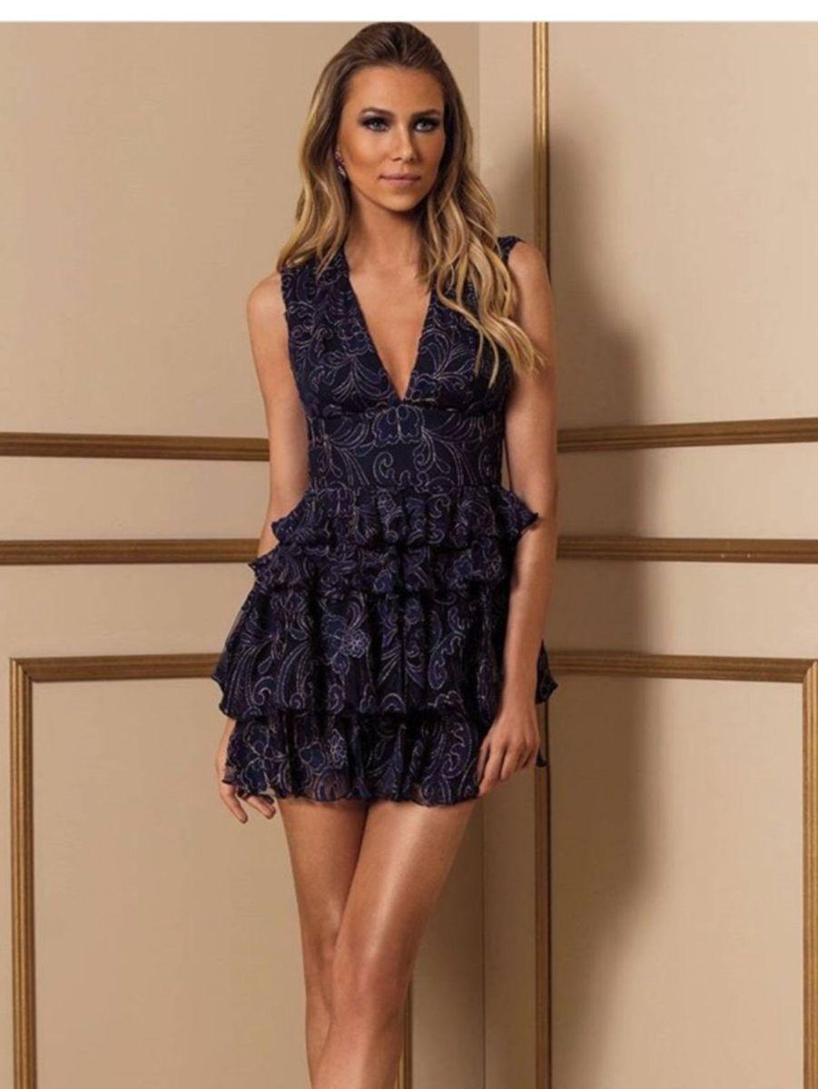 60fcf26433 fabulous agilita lindo vestido luxo bordado azul marinho chique festa -  vestidos agilita