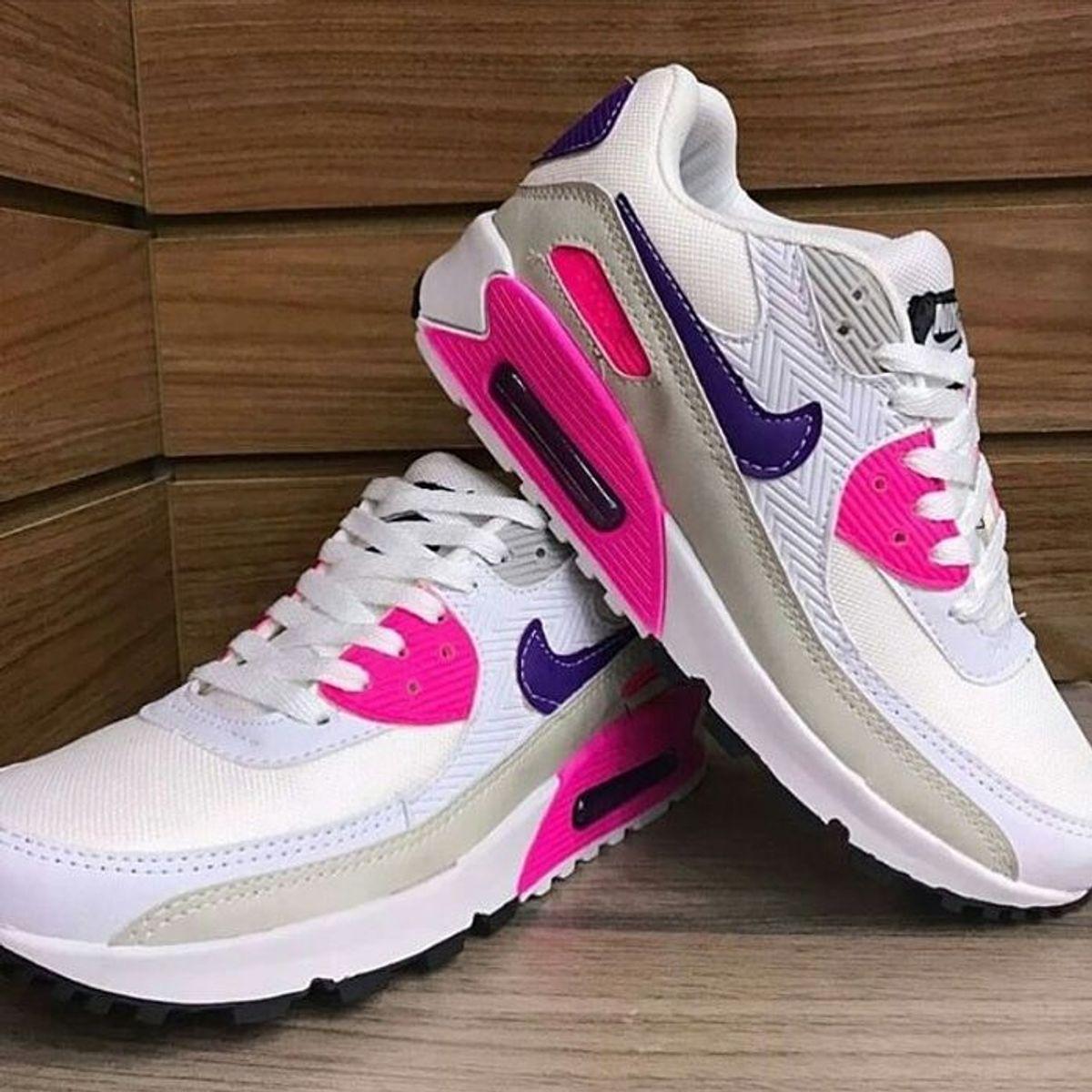 Air Max 90 Branco Rosa 36 | Tênis Feminino Nike Nunca Usado 41928715 | enjoei