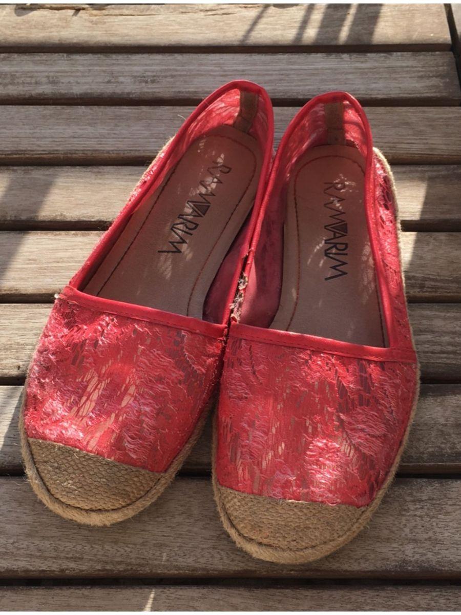 17162fda72 alpargata ramarim vermelha renda - sapatilha ramarim