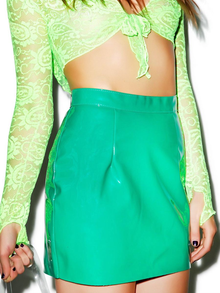 american apparel vinyl mini skirt cali sun & fun mini saia vinil legítima - saias american apparel