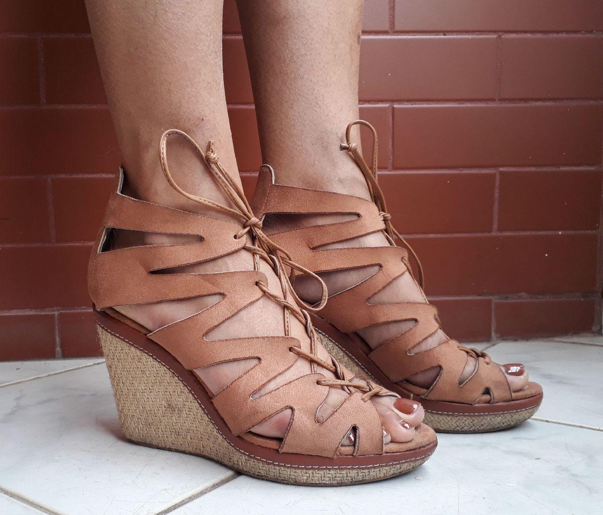 anabela moleca - sandálias moleca
