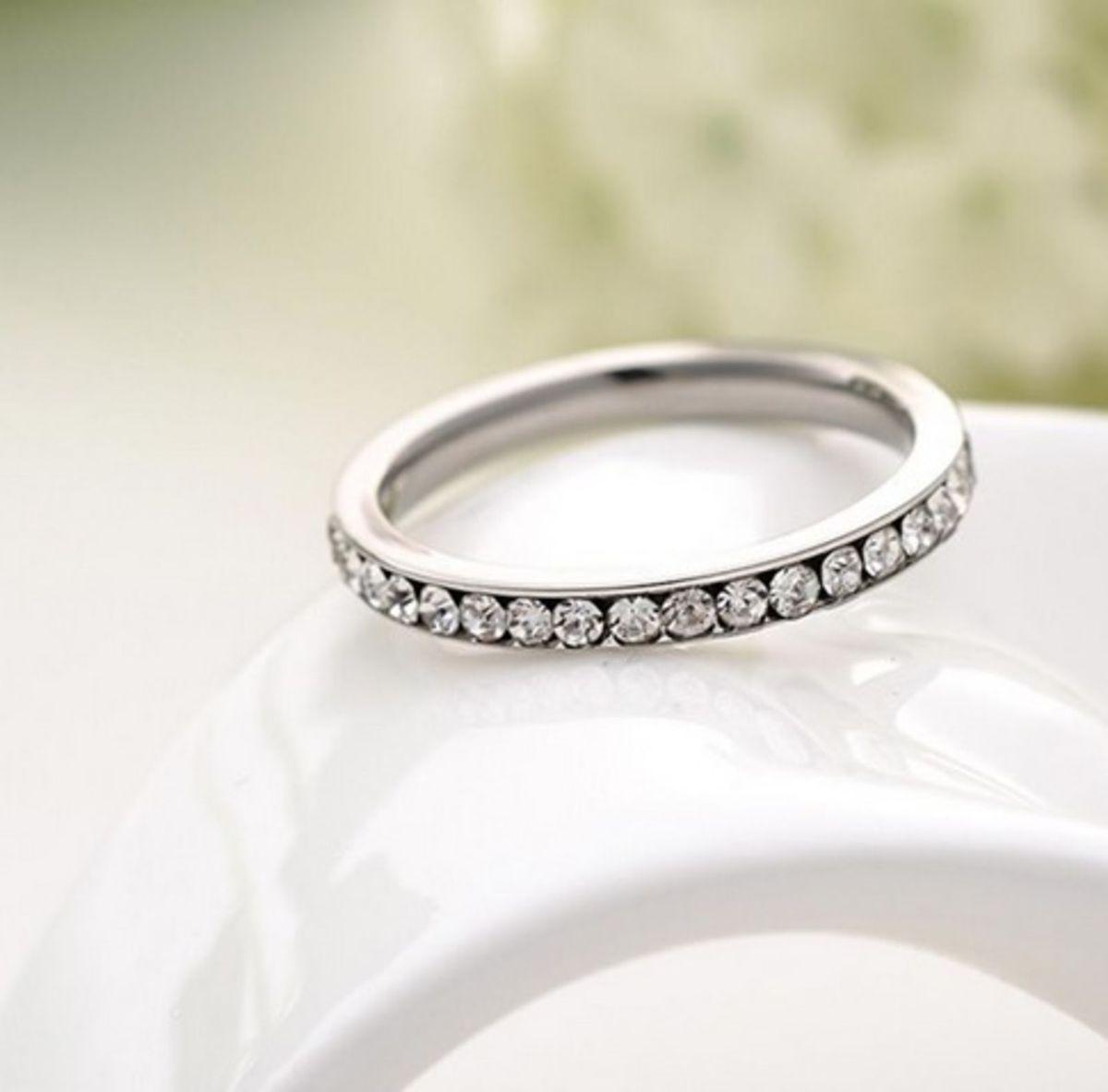 004af499308 anel aço inox aparador aliança eternidade - jóias yeva