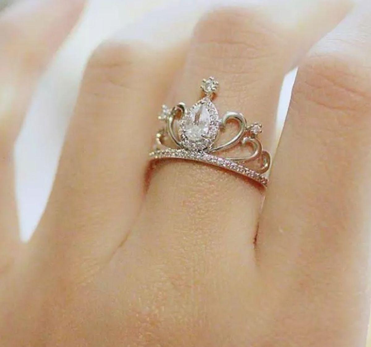51b0168a10b anel aliança coroa princesa em prata 925 luxo pave zirconias lindo - jóias  life
