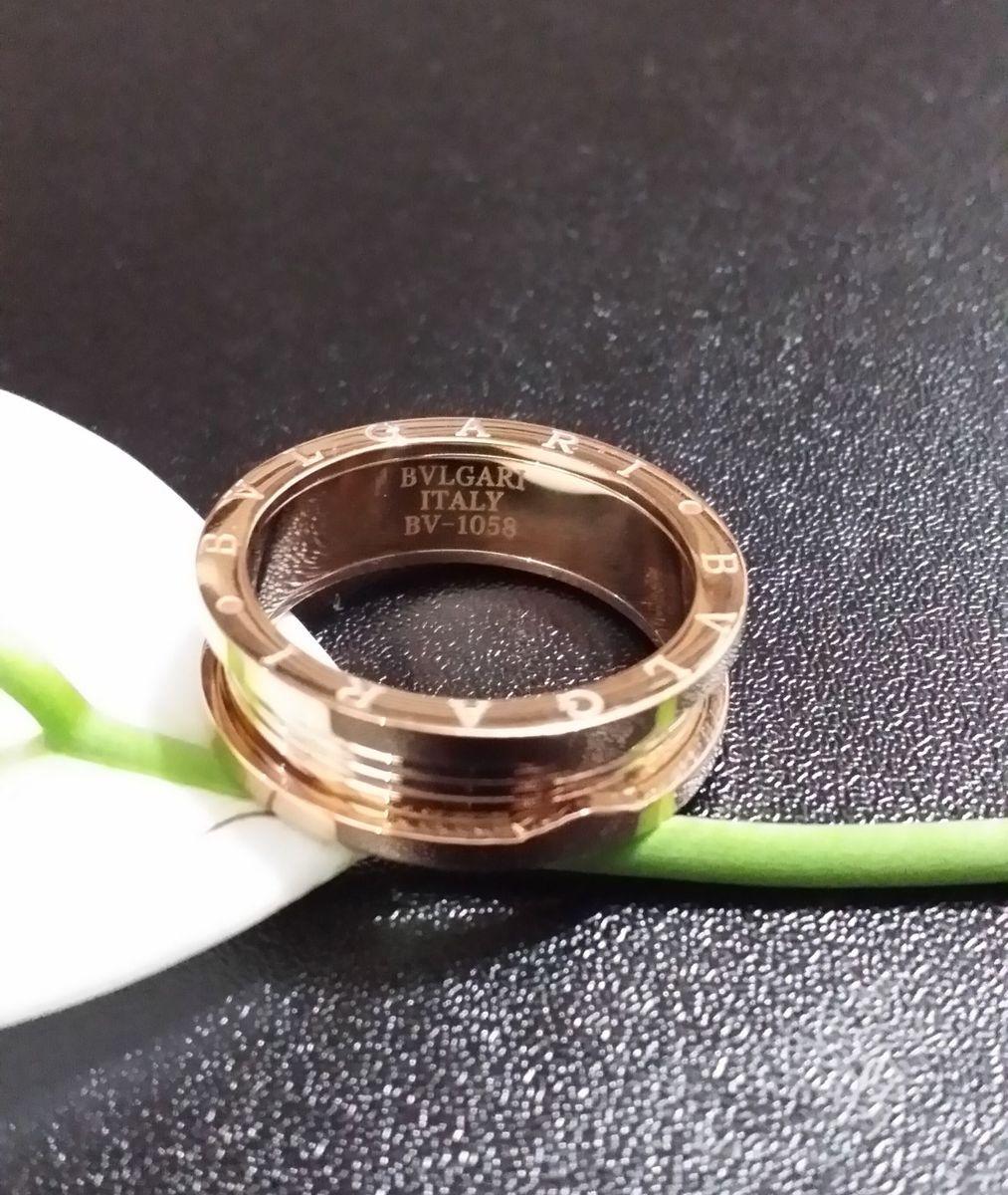 4be17dbc02f anel aliança masculino e feminino bvlgari banhado ouro 18k - jóias bvlgari