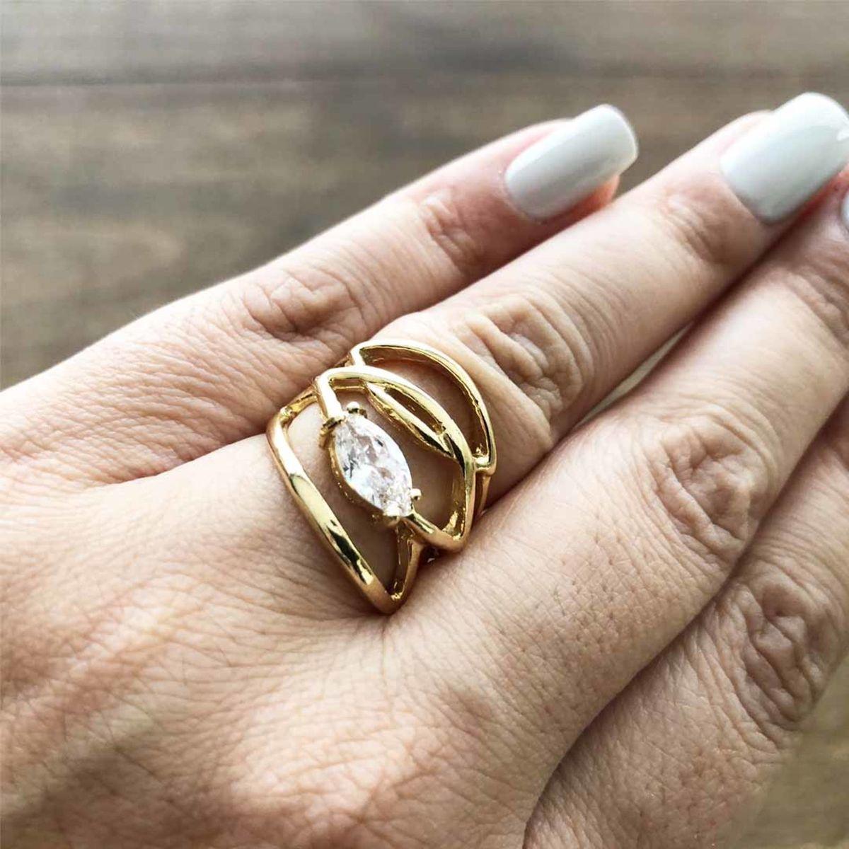e29016ec0ca76 anel feminino de luxo banhado em ouro 18k semi joia - jóias vivan semijoias  e acessórios
