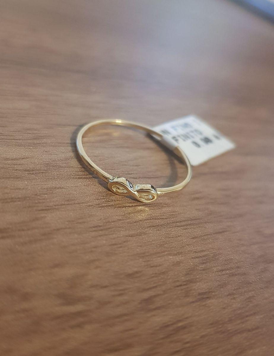 13ae2cfffd35e Anel Fino Infinito - Ouro 18k   Jóia Feminina Mr Gold Jewelry Nunca ...