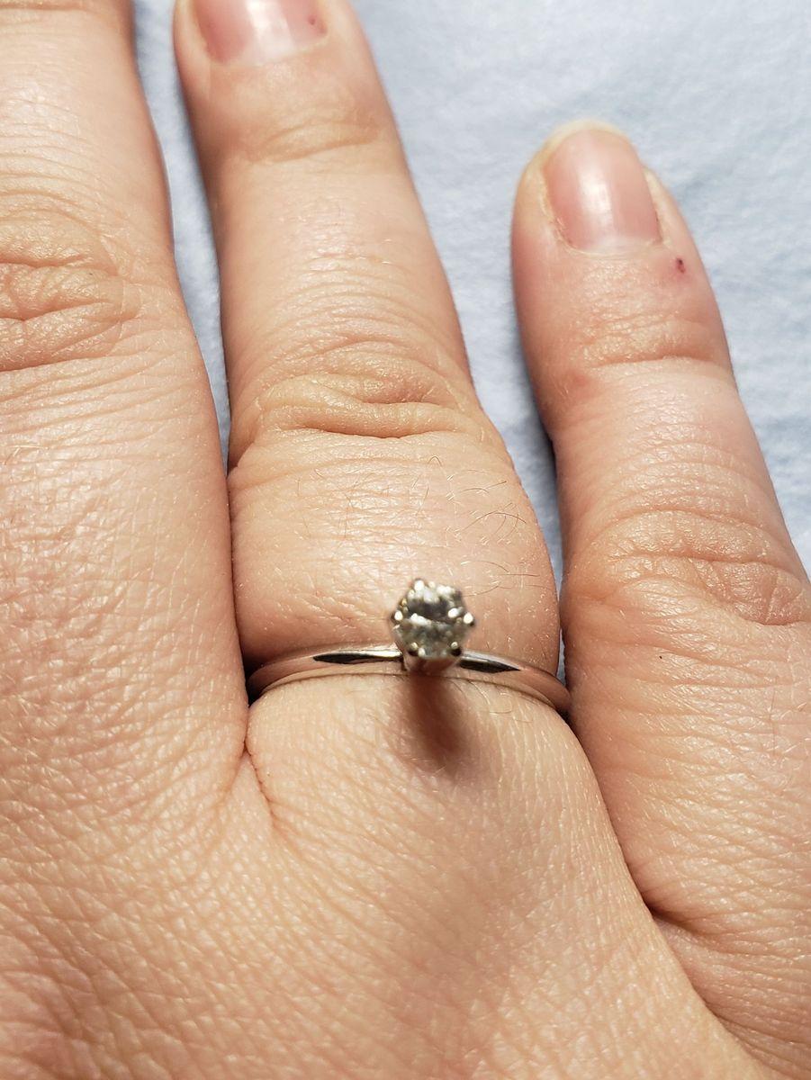 anel solitário ouro 18k750 - jóias sem marca