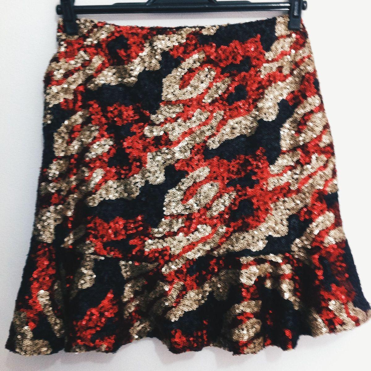 animal print colorido paete - saias tatastore