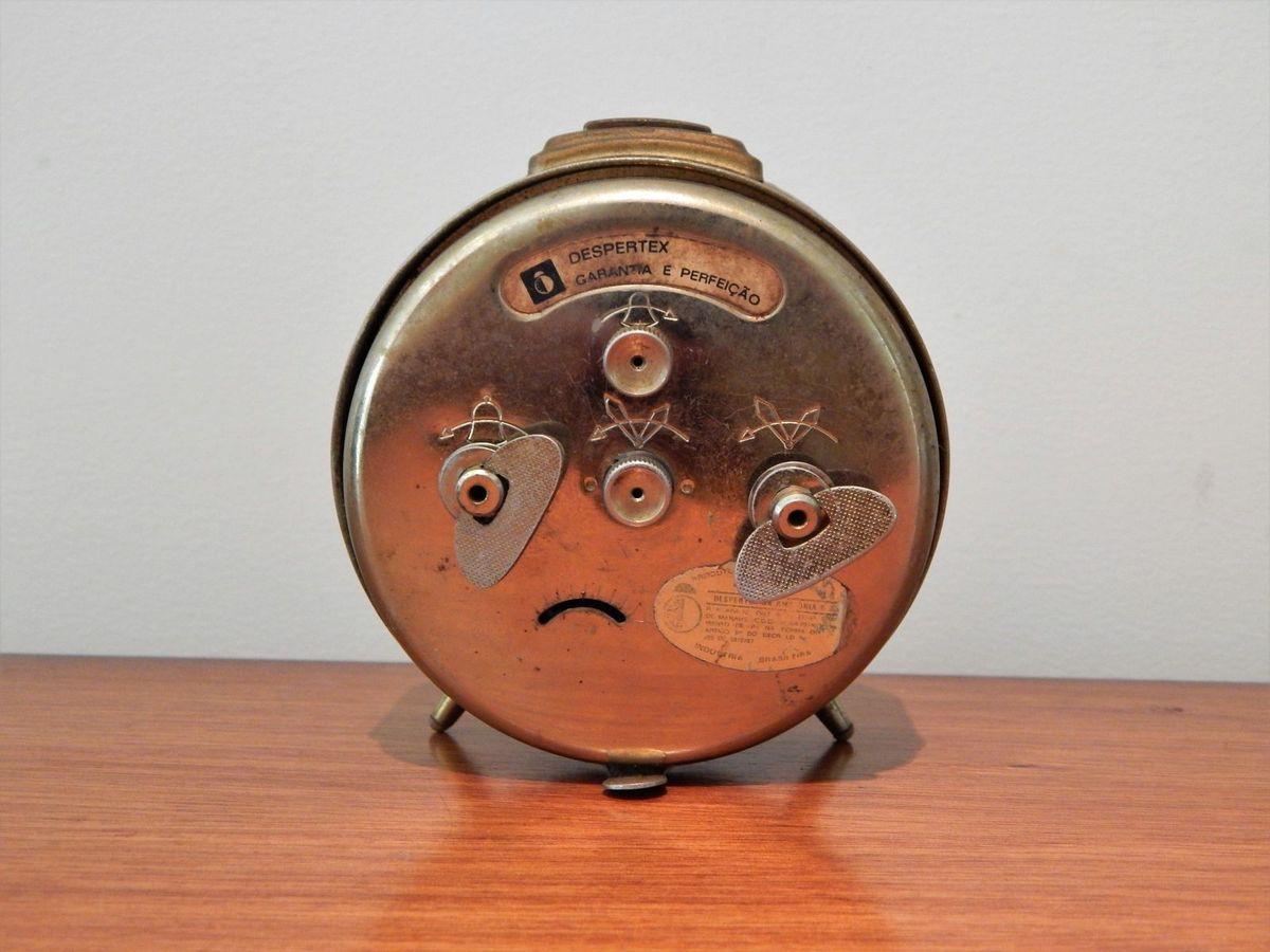 9a28a33c144 Antigo Relógio Despertador Junghans Trivox Silentic