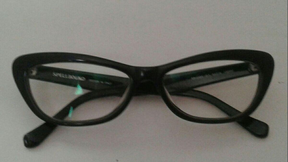 armação acetato preto gatinha para óculos de grau spellbound italiano - óculos  spellbound 4bd86da243