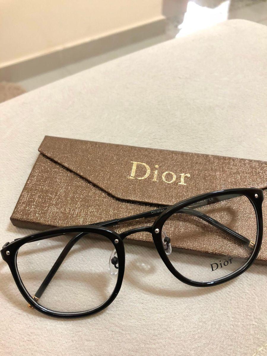 armação de grau feminina dior quadrada gatinha acetato metal preto acetato  preto - óculos dior d7a0985edb
