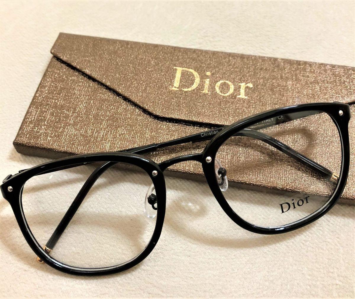 armação de grau feminina dior quadrada gatinha acetato metal preto acetato  preto - óculos dior 117310af2d