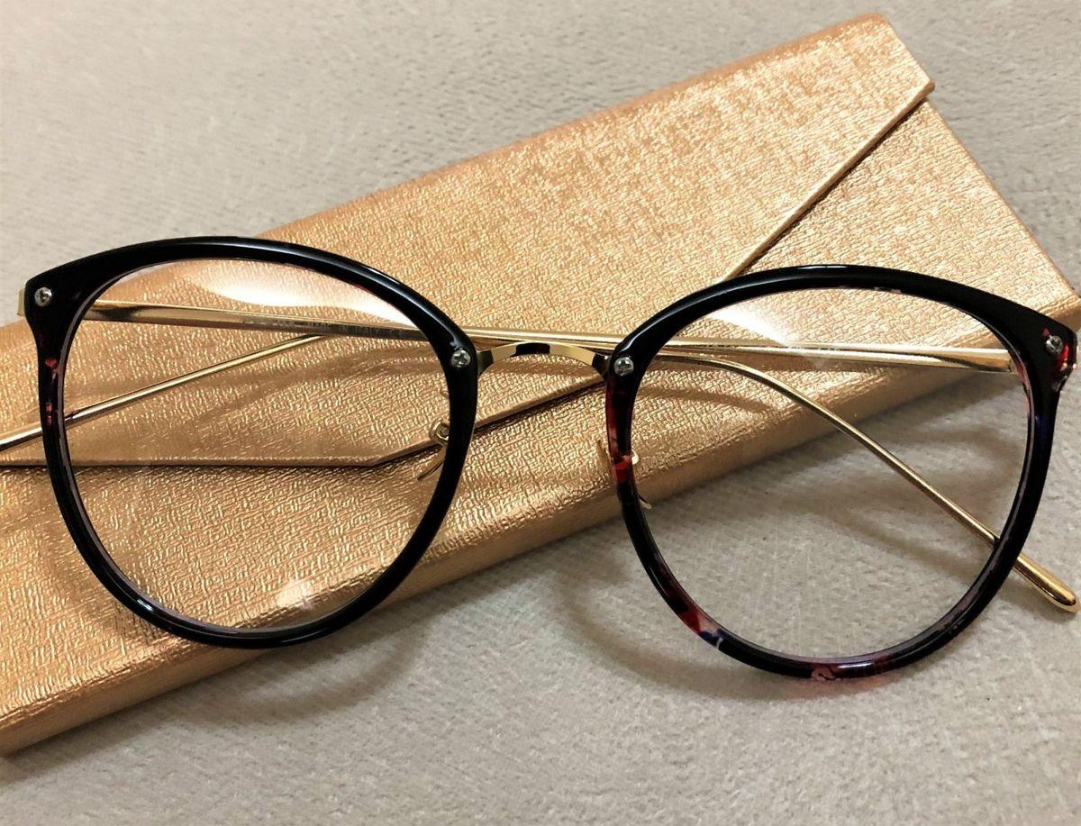 Armação de Grau Feminina Dior Quadrada Gatinha Acetato Metal Preto Vermelho  Marmore Floral   Óculos Feminino Dior Nunca Usado 29591599   enjoei b53e74bcc7