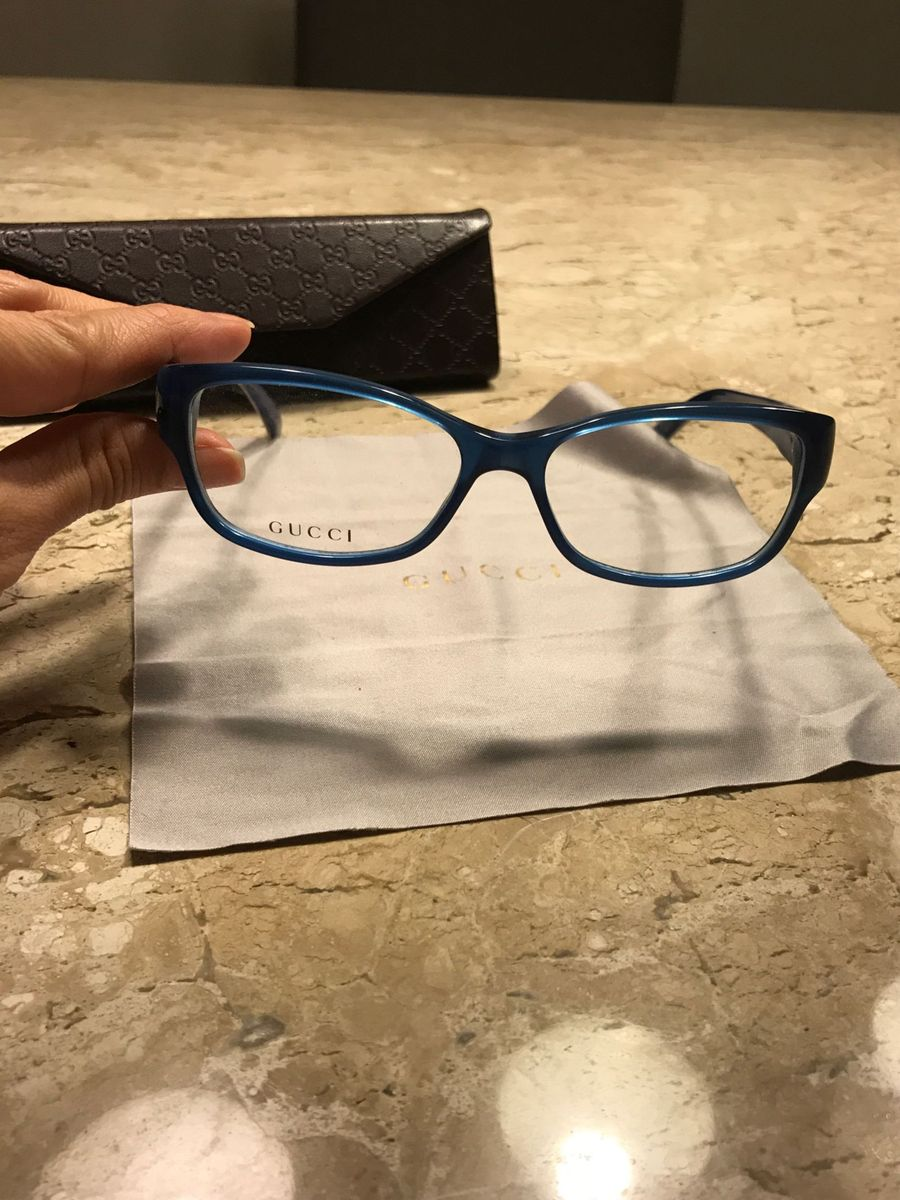 004ad5c1f6a2b ... Mercado Livre Brasil e6e852b45da672  Armação de Grau Gucci Nunca Usada!  Óculos Feminino Gucci Nunca .
