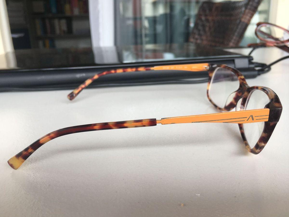 fcb6a7b160bdc Armação de Óculos com Lente de Grau   Óculos Feminino Atitude Usado  30084405   enjoei