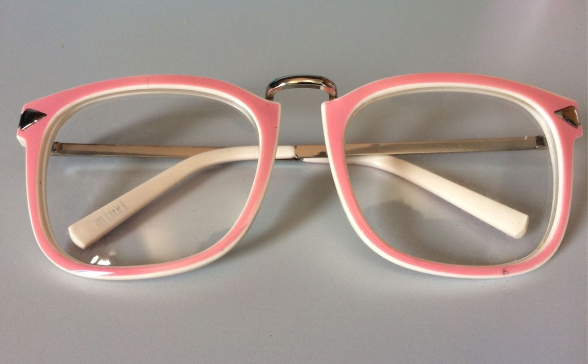 e51fc0778f871 armação de óculos de grau branco e rosa - óculos xx