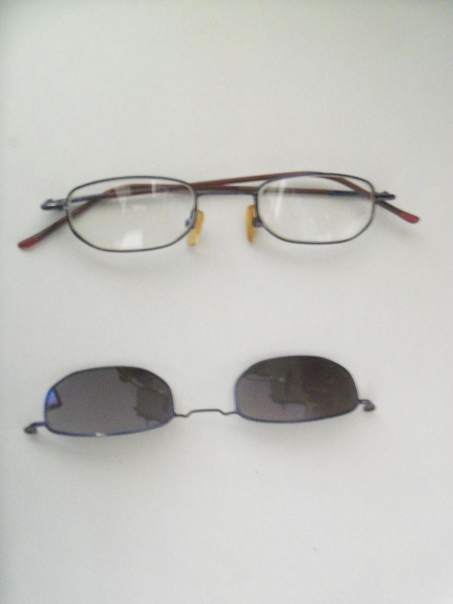 5087ad0e1 Armação de Óculos de Grau com Lentes Escuras | Óculos Feminino Usado ...