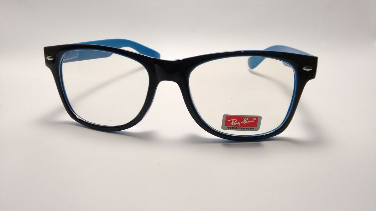 3c66d28f9 Armação de Óculos de Grau Estilo Rayban - Acetato | Óculos Feminino ...