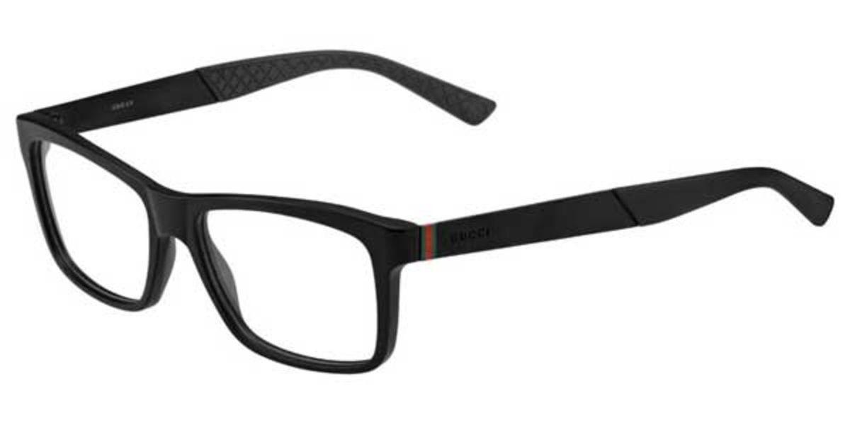 9b393e90dc8e7 armação de óculos de grau gucci preto 1045 - óculos gucci