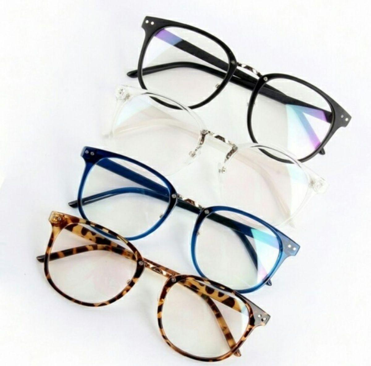 6e371bafa7e79 armação de óculos de grau retrô geek unissex - óculos importado