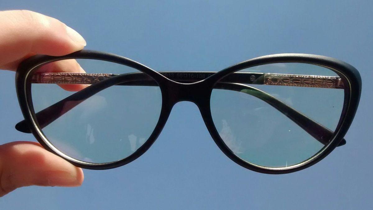 Armação de Óculos Gatinho Fosco   Óculos Feminino Nunca Usado ... 40683b9c7a