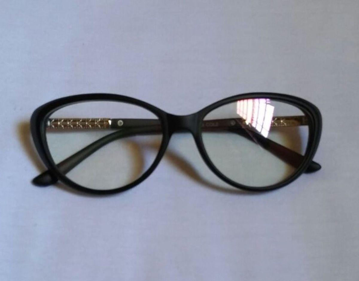 Armação de Óculos Gatinho Preto   Óculos Feminino Nunca Usado ... d18a479b0b