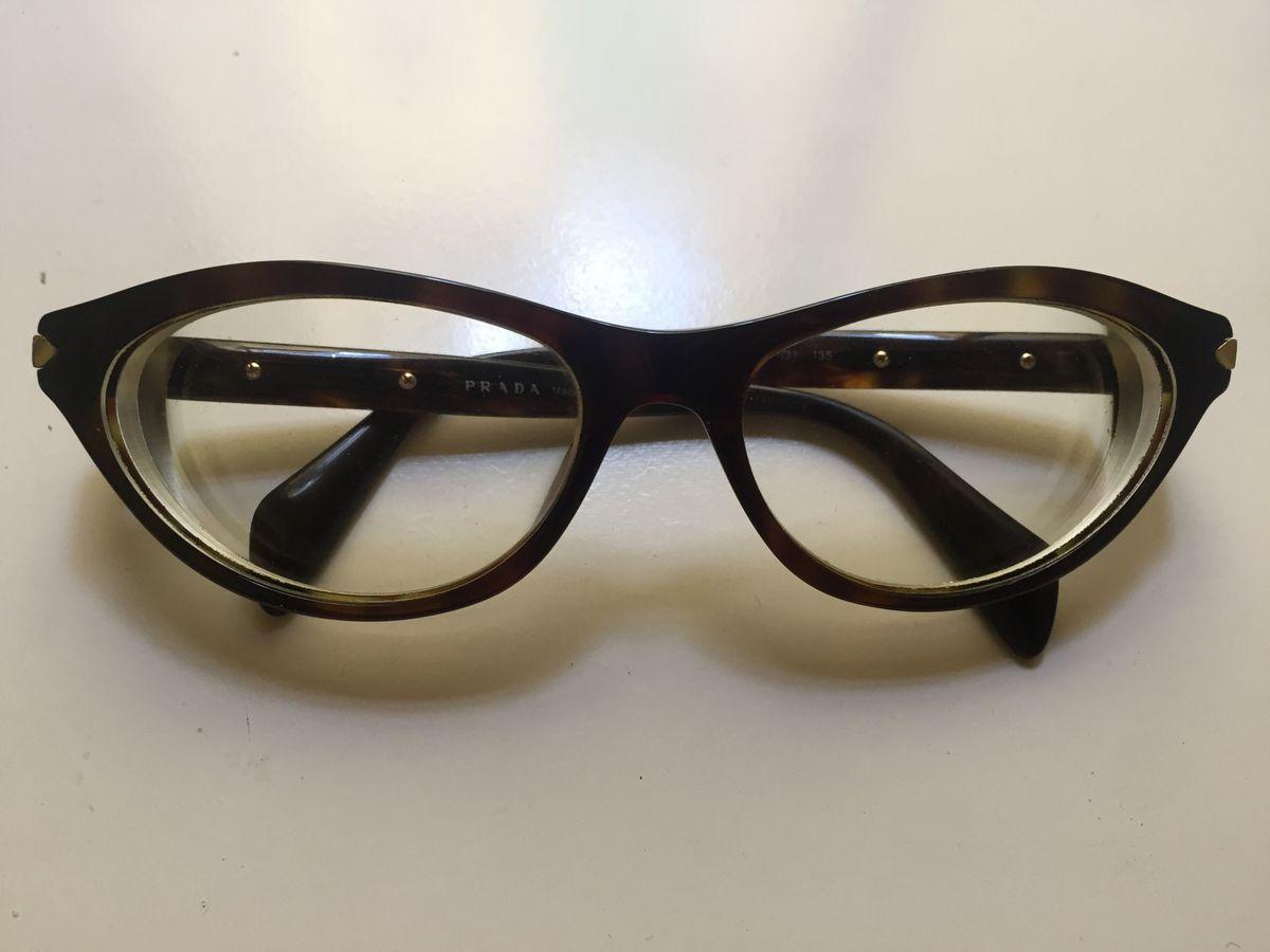 Armação de Óculos Grau Prada Original   Óculos Feminino Prada Usado  10   enjoei