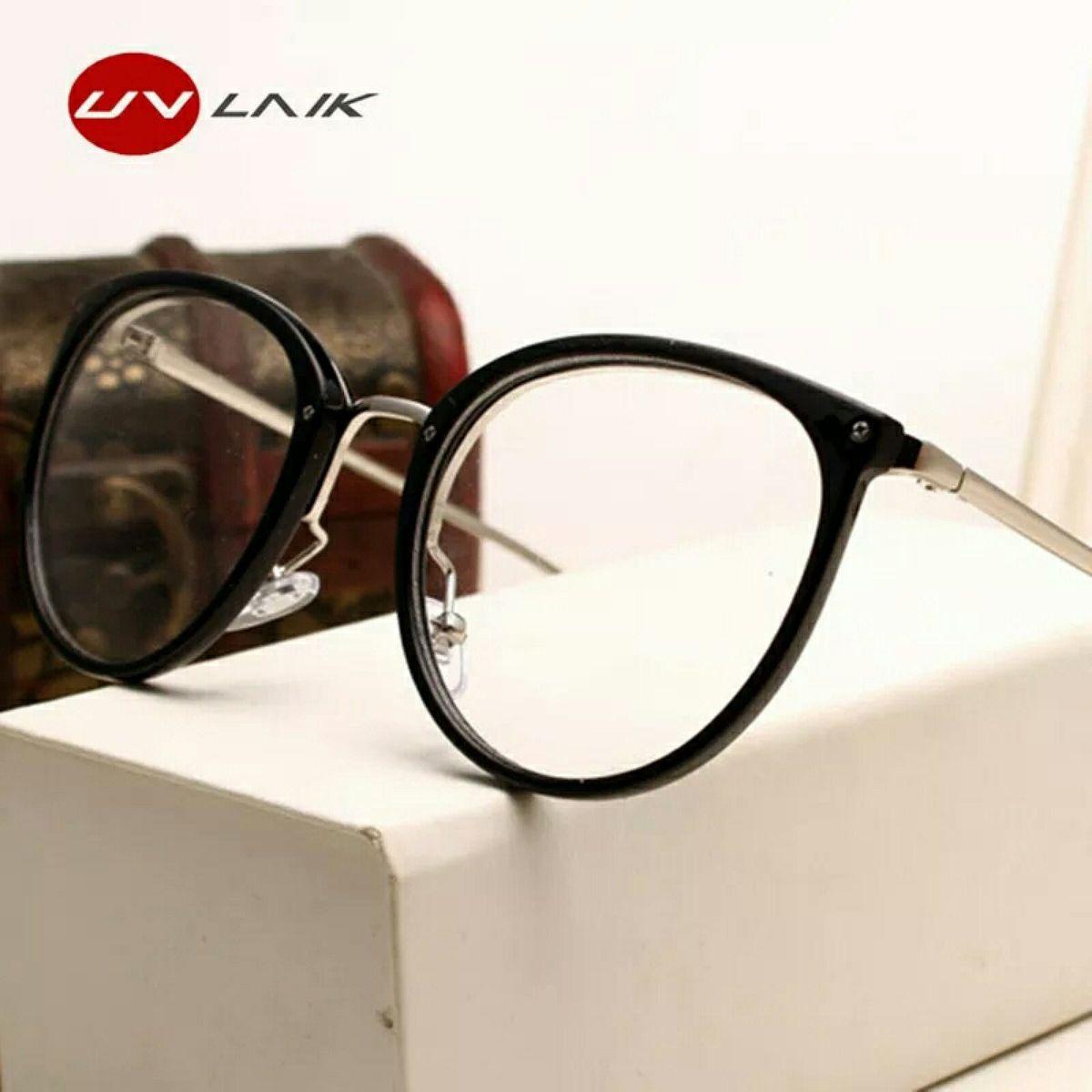 b2eeee592c1f5 armação de óculos grau retrô preto - óculos importado