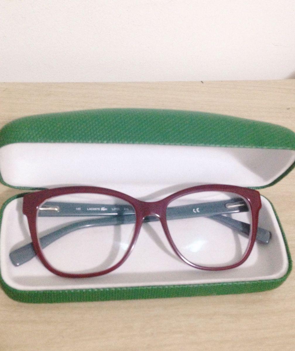 0cd70452d47db armação de óculos lacoste original - óculos lacoste