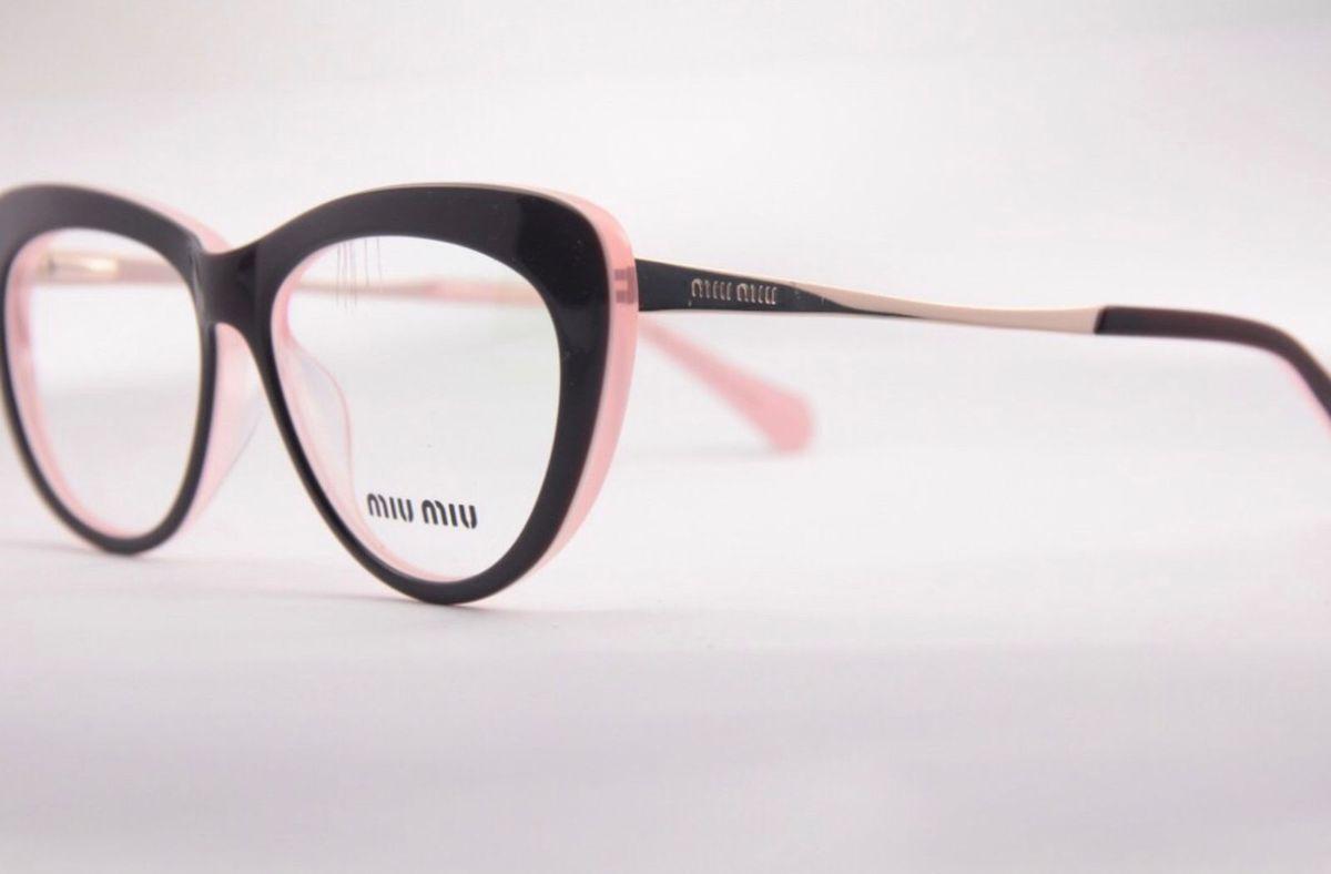Armação Miu Miu Nova   Óculos Feminino Miu Miu Nunca Usado 27548006   enjoei 10f02d5777