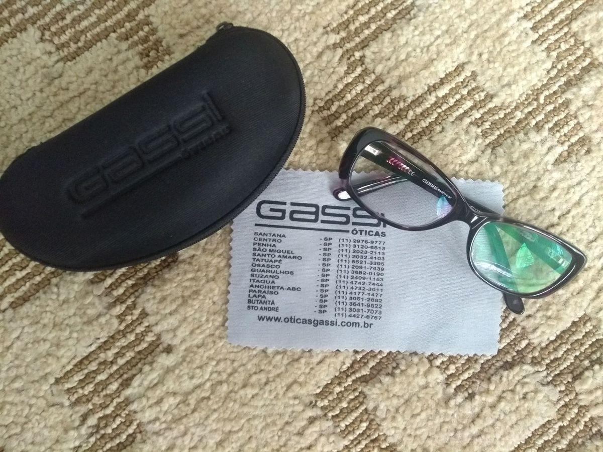 Armação Nova de Óculos de Grau Gassi Eyewear Roxinha   Óculos Feminino Gassi  Oticas Nunca Usado 26453138   enjoei b51b4ff909
