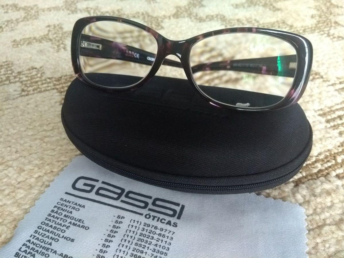armação nova de óculos de grau gassi eyewear roxinha - óculos gassi-oticas d0228c375e