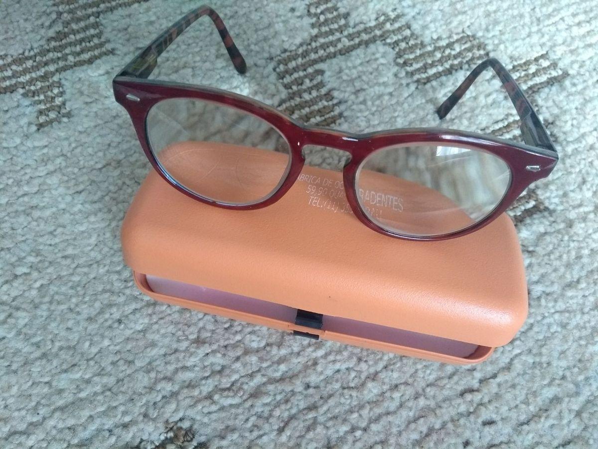 6dfe7119ba967 Armação Nova de Óculos de Grau Marrom e Oncinha   Óculos Feminino Fabrica  De Oculos Tiradentes Usado 26453448   enjoei