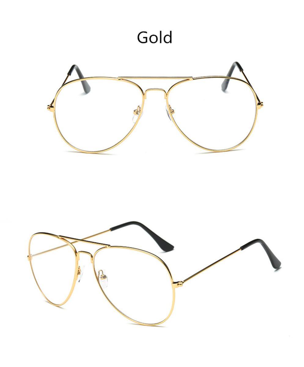 e79cf3f12c651 armação óculos aviador dourado - óculos importado