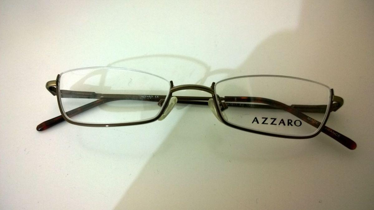 dcee183269545 Armação Óculos Azzaro Meio Aro Nunca Usado!   Óculos Masculino ...