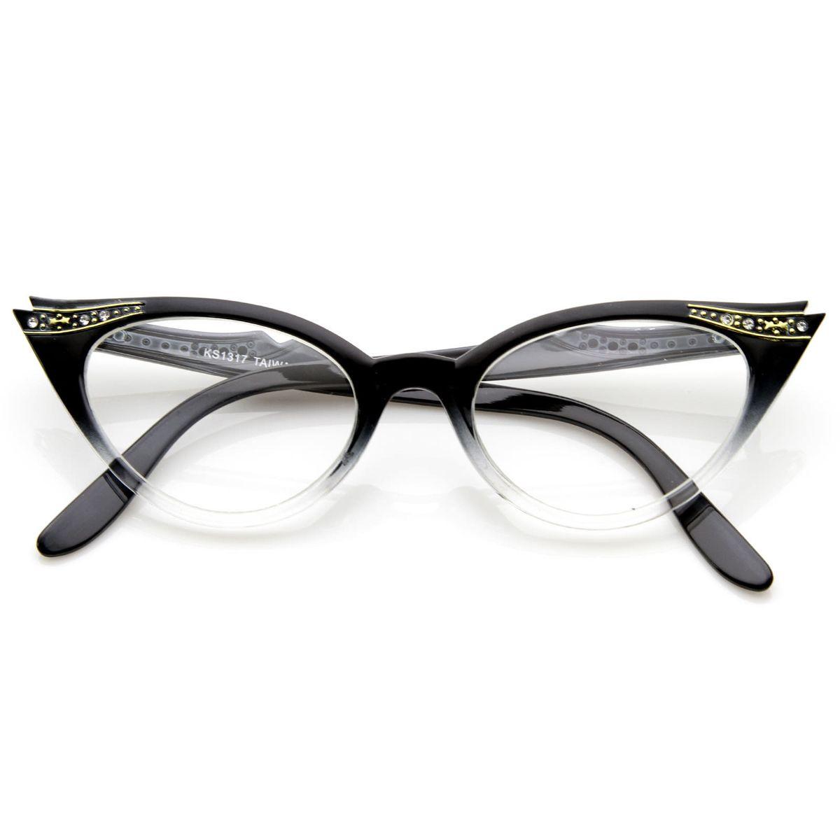 2f676442e8abe Armação Óculos de Gatinho - Vintage   Óculos Feminino Nunca Usado ...