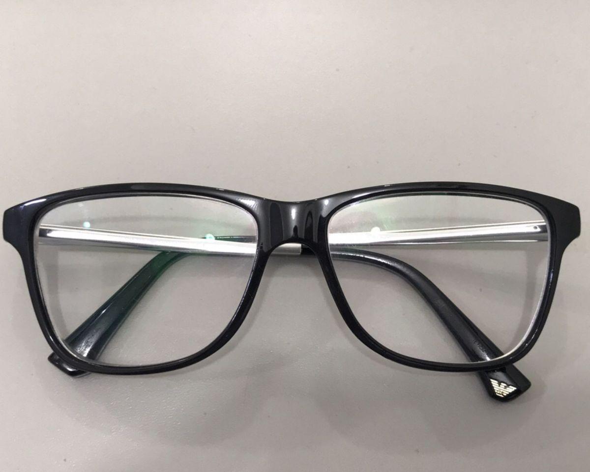 armação óculos de grau empório armani masculino - óculos emporio armani 235582f5e7