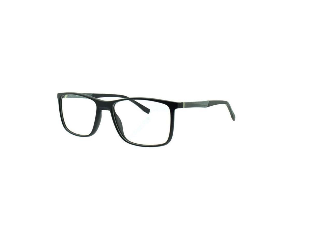 d248709443ed9 armação óculos de grau masculino preto com cinza tr90 hastes flexiveis esportivo  para lentes - óculos