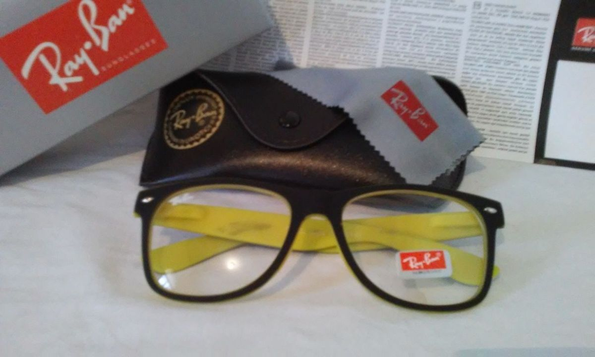 71069990e6845 armação óculos de grau rayban wayfarer masculino e feminino - óculos ray-ban