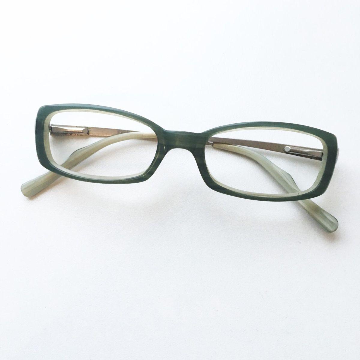 ba0a0ff497622 Armação Óculos de Grau Retangular Verde