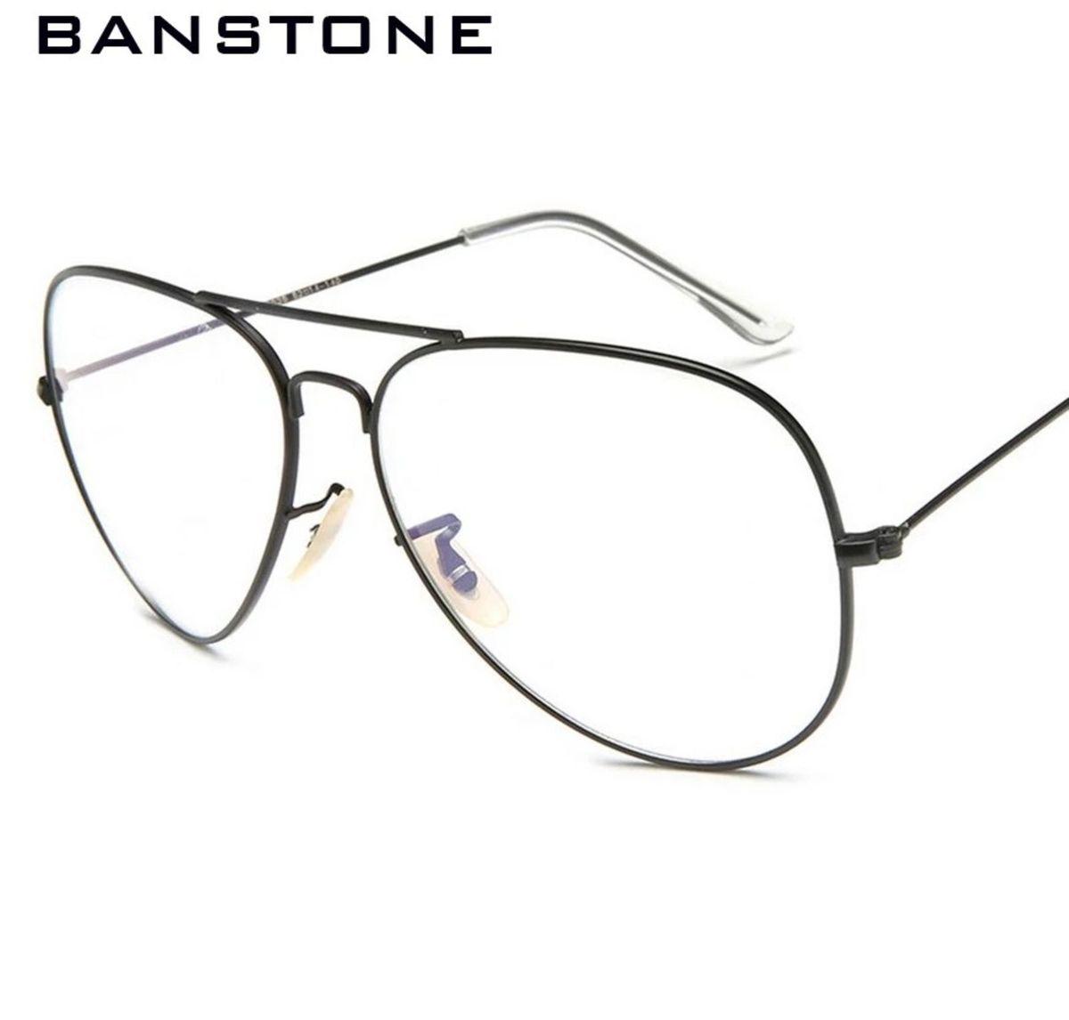 a74e6367d9caa Armação Óculos Grau Feminino Aviador   Óculos Feminino Banstone ...