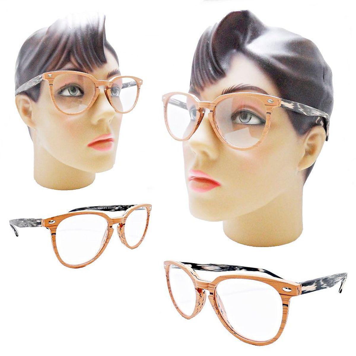 677ce0553 armação oculos grau feminino redondo oval estilo madeira da moda 2019 - óculos  sem marca