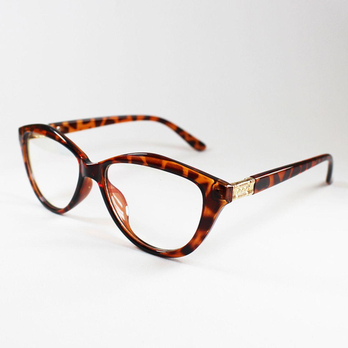 armação óculos para grau feminina gatinho estampa tartaruga - óculos sem  marca 6ca1274185